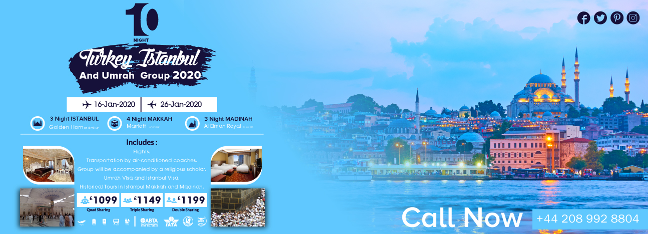 Istanbul Plus January Umrah Packages 2020