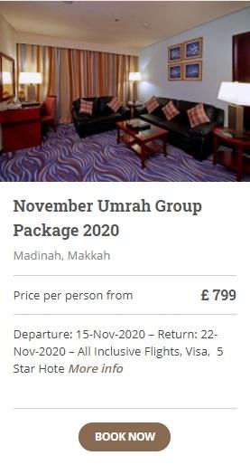 November Umrah Group Packages