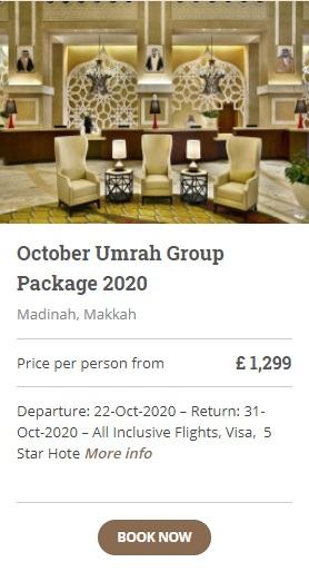 October Umrah Group Packages