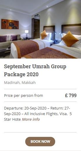 September Umrah Group Packages